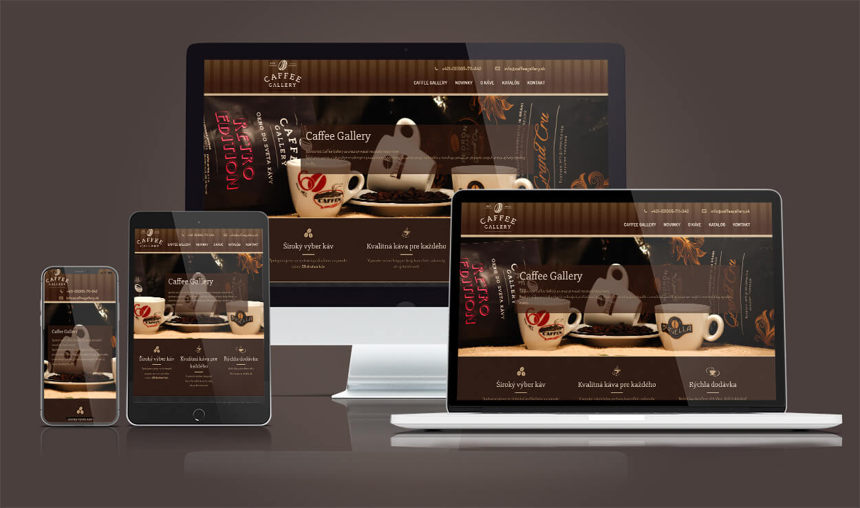 Ukážka webstránky CafeeGallery
